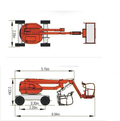 14M曲臂式越野高空作业平台